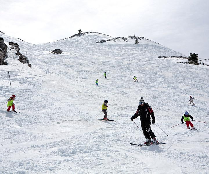 Vista de las Pista de esquí de Candanchú