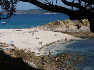 playa de Bolos Islas Cies