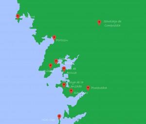 Mapa De Rias Bajas.Turismo Rias Baixas Que Ver Rias Baixas Apartamentos 3000