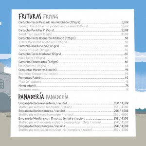 menu frituras fiesta del marisco