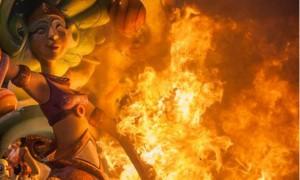 fallas gandia quemadas