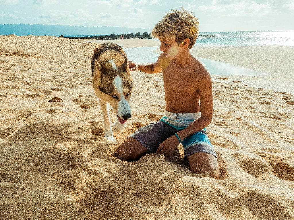 Foto: En familia en la playa