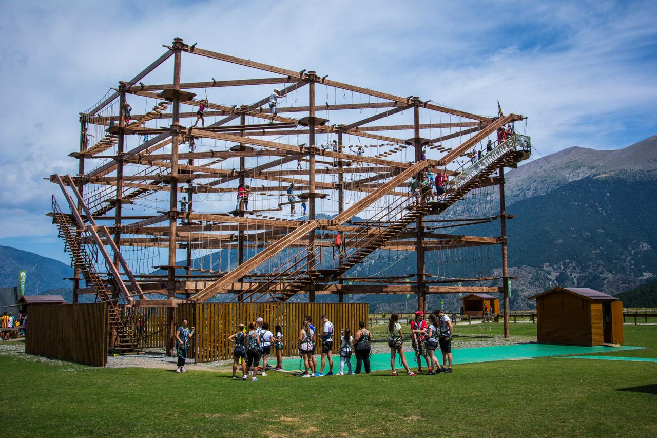Fotografía del circuito de Airtrekk, en Naturlandia, Andorra