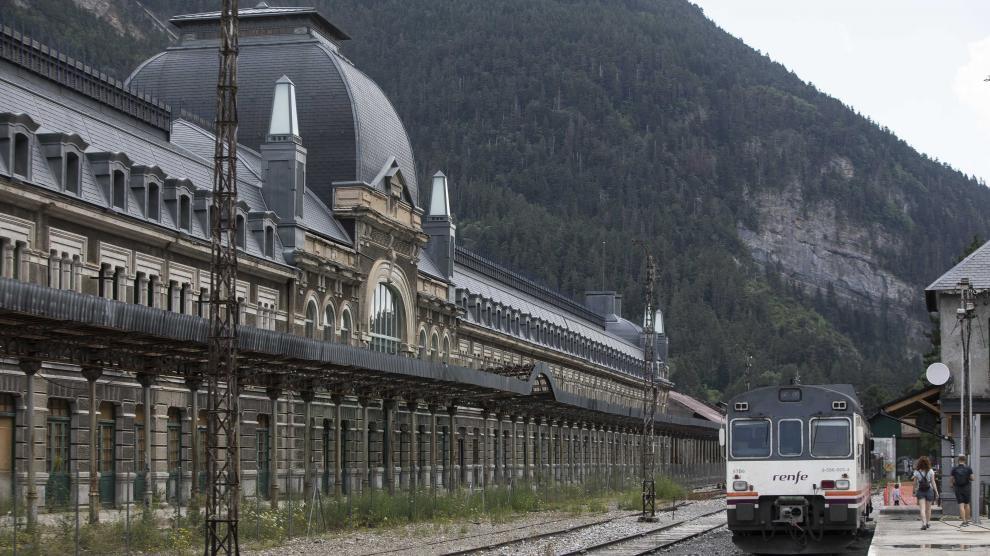 Fotografía de la Estación Internacional de Canfranc
