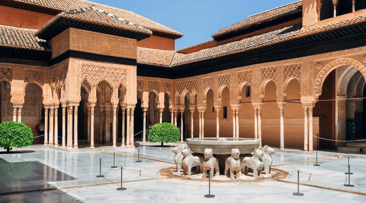 Fotografía del Patio de los Leones, Alhambra de Granada
