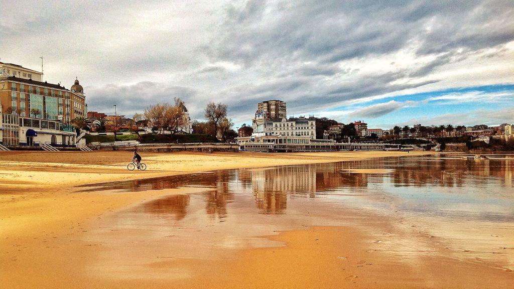 Fotografía playa de la Concha, Santander