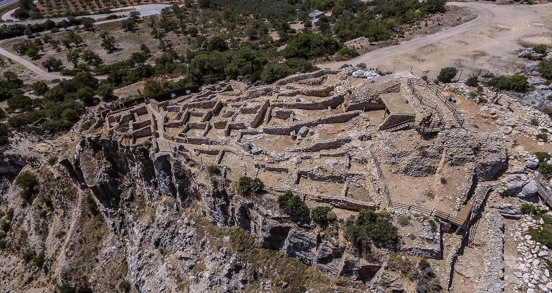 Fotografía aérea del Poblado ibérico del Puig de la Nau, Benicarló