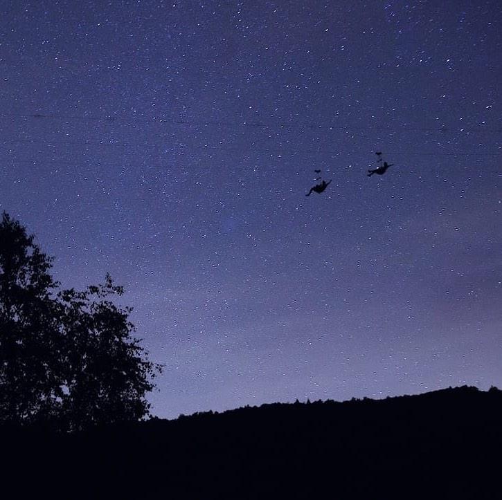 Fotografía Salto Nocturno (luna nueva), Tirolina del Tena