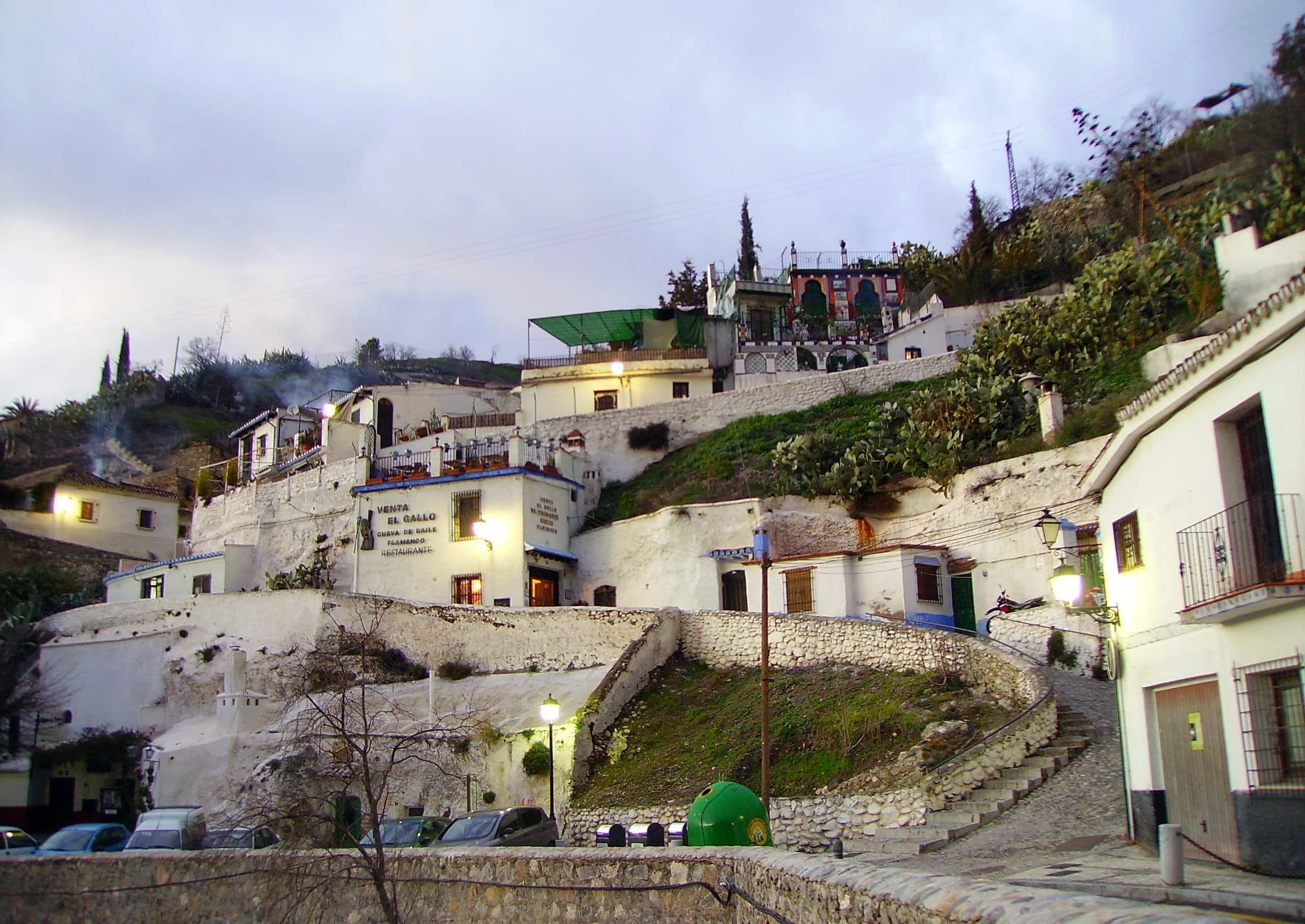 Fotografía del barrio del Sacromonte, Granada