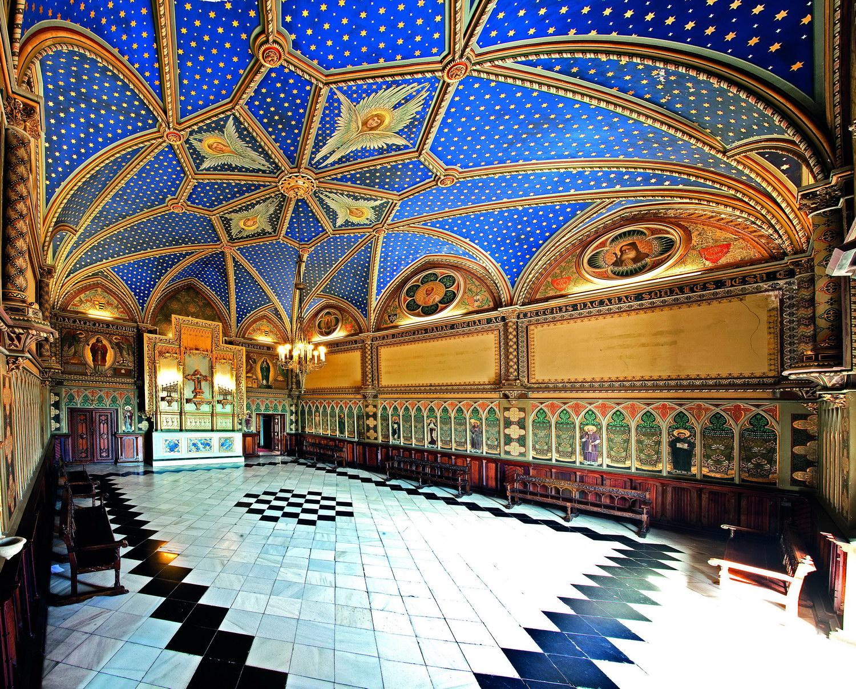 Fotografía del interior del Palacio Ducal de Gandía