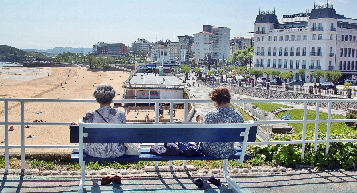Fotografía del Paseo y la Playa del Sardinero, Santander
