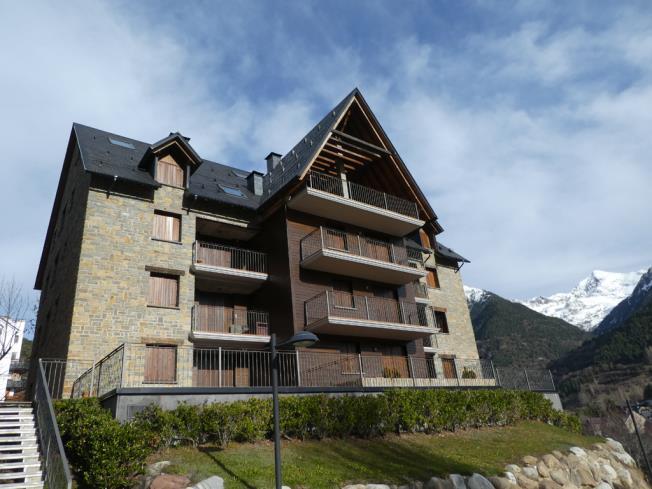 Fachada Invierno Apartamentos Sallent de Gállego 3000 Sallent de Gallego