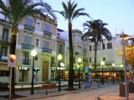 Zona de bares Benicarló Benicarlo Costa Azahar España