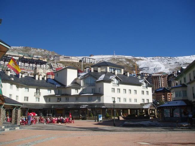 Pradollano ski resort Spain Sierra Nevada