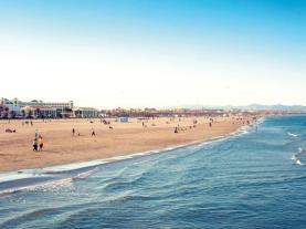 Playa Malvarrosa Valencia  Costa de Valencia España