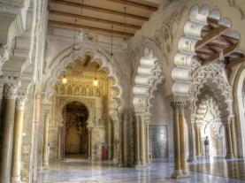 Interior Aljafería Zaragoza Zaragoza España