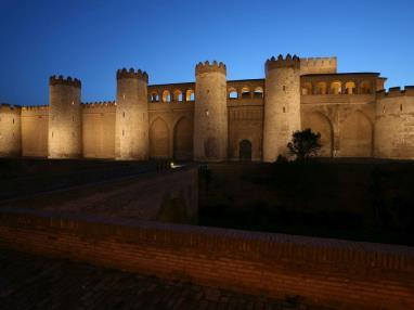 Aljaferia de noche Espagne Saragosse SARAGOSSE
