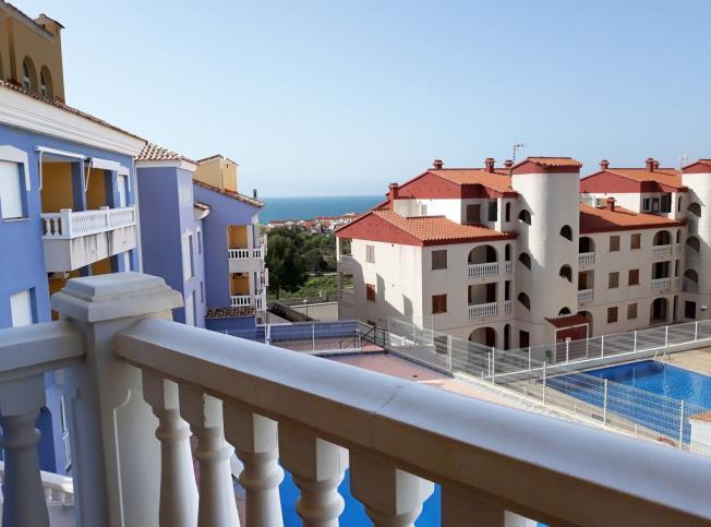 Terraza Apartamentos Marcomar 3000 Alcoceber