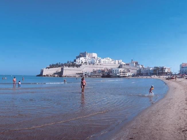 Playa grande Spagna Costa Azahar PEÑISCOLA