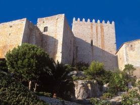 Detalle subida al castillo Spain Costa del Azahar PENISCOLA