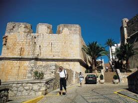 Muralla castillo Spain Costa del Azahar PENISCOLA