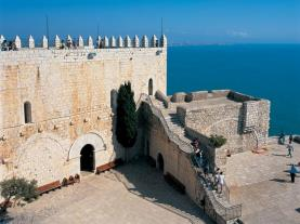 Vistas muralla del castillo España Costa Azahar Peñiscola