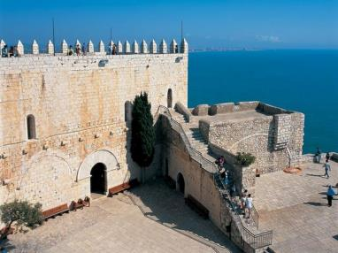Vistas muralla del castillo Espagne Costa del Azahar PENISCOLA