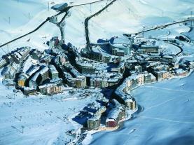 Vistas invierno Pas de la casa Estación Grandvalira Andorra