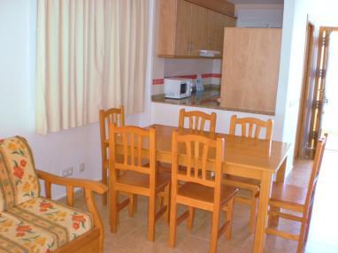 Salón comedor España Costa Azahar Alcoceber Apartamentos Penyagolosa 3000