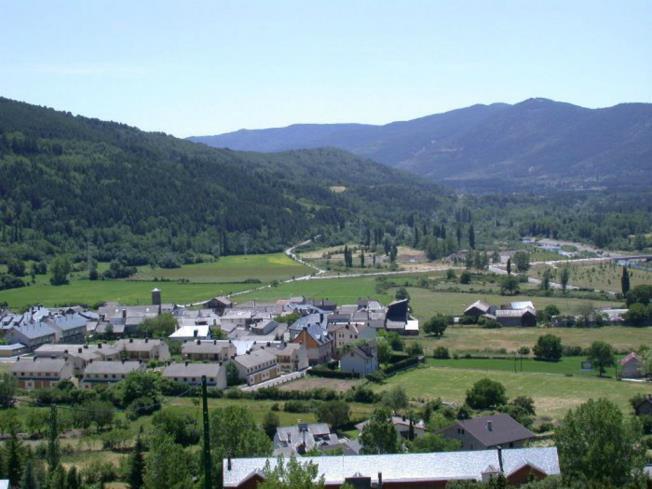 Vista Villanúa España Pirineo Aragonés Villanua