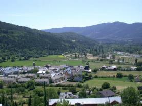 Vista Villanúa Villanua Pirineo Aragonés España