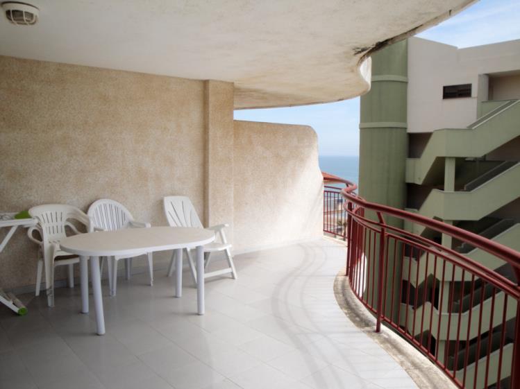 Terraza Apartamentos Olimpo 3000 Peñiscola