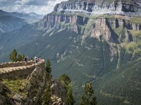 Vista Parque Ordesa JACA Pirenei Aragonesi Spagna