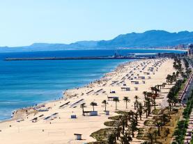 Playa Gandía Gandia Costa de Valencia España