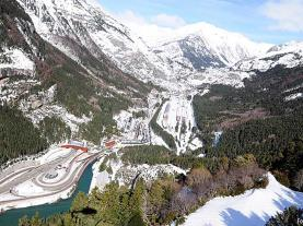 Vista aérea de Canfranc Canfranc Pirineo Aragonés España