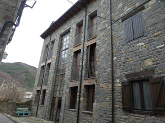 Fachada Invierno España Pirineo Aragonés Biescas Apartamentos Biescas 3000