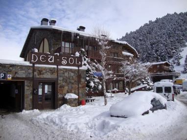 Fachada Invierno Andorra Estación Grandvalira Soldeu Apartamentos Deusol 3000
