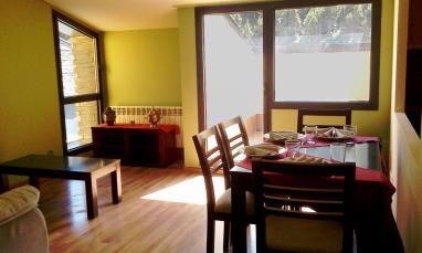 Salón comedor Andorra Estación Grandvalira Tarter, el Apartamentos La Mercería 3000