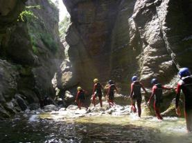 Descenso de barrancos Río Gállego ESCARRILLA Aragonese Pyrenees Spain