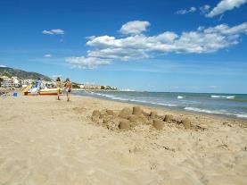 Arena de la playa España Costa Azahar Alcoceber
