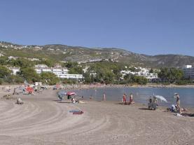 Panorámica de la playa España Costa Azahar Alcoceber