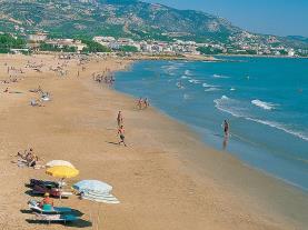Vistas de la playa Alcoceber Costa Azahar España