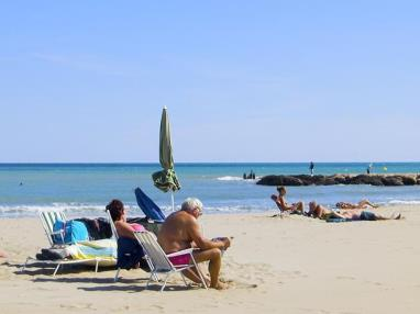 Descanso en la playa España Costa Azahar Alcoceber