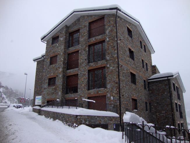 Fachada Invierno Apartamentos La Pleta 3000 Soldeu
