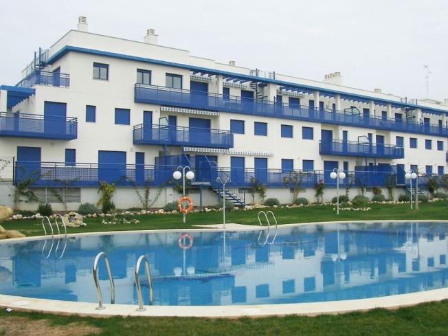 Fachada Invierno Apartamentos Cargador Beach 3000 Alcoceber