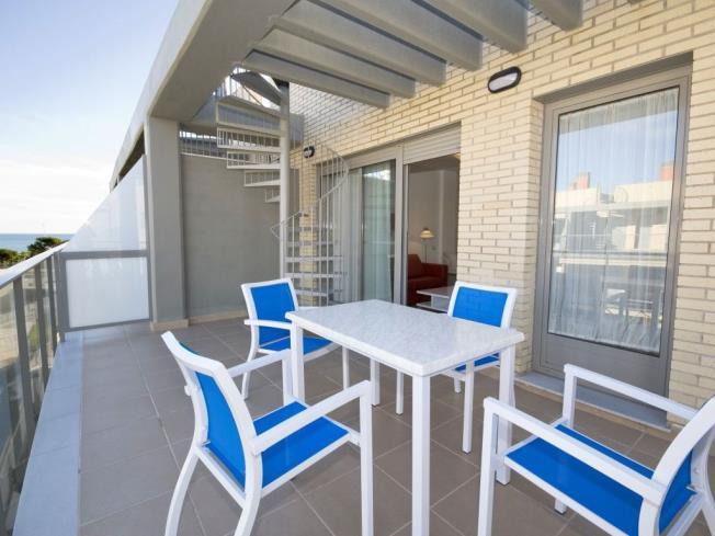 Terraza Apartamentos Alcocebre Suites 3000 Alcoceber