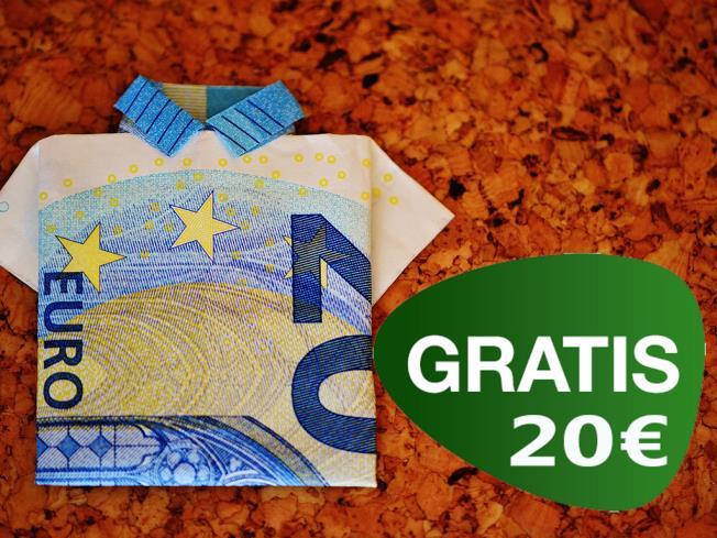 Cheque regalo de 20 Euros GRATIS
