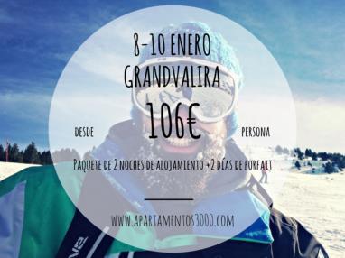 Oferta GrandValira del 8 al 11 Enero
