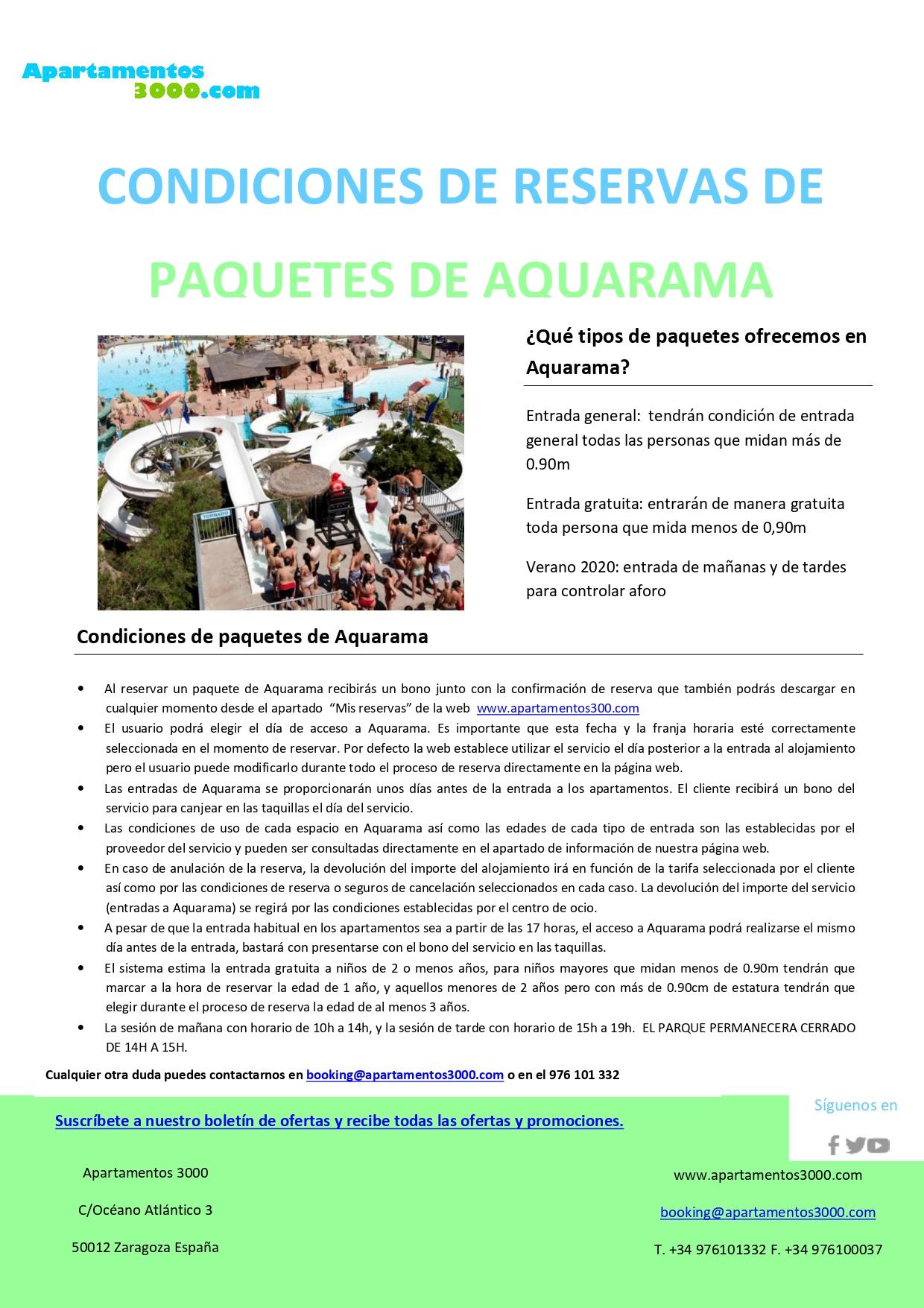 Oferta Aquarama - Ofertas parque acuático Benicàssim